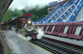 Disneyland Railroad Discoveryland Station - Discoveryland